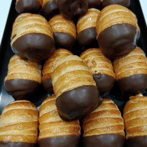 Caña de crema y chocolate