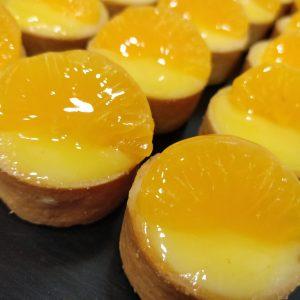 Tartaleta crema y mandarina