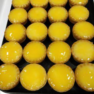 Tartaletas de crema y yema