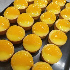 tartaleta de crema y mandarina